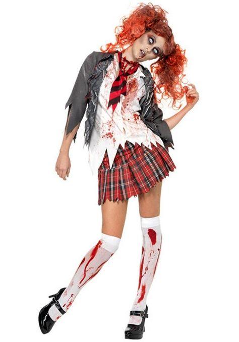 Bambino Zombie Scuola Ragazza Costume Ragazze Halloween Horror Costume Vestito Kids