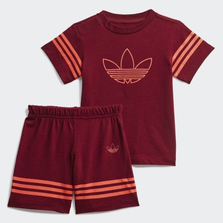 adidas outline t-shirt burgundy