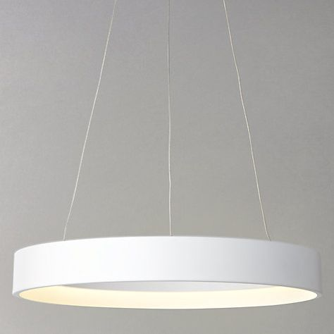 John Lewis Jorgen LED Hoop Ceiling Pendant   LANDING LIGHT? LARGE DROP AND BULBS DO NOT NEED REPLACING