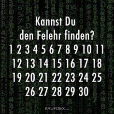 Kannst Du den Felehr finden? 1 2 3 4 5 6 7 8 9 ...