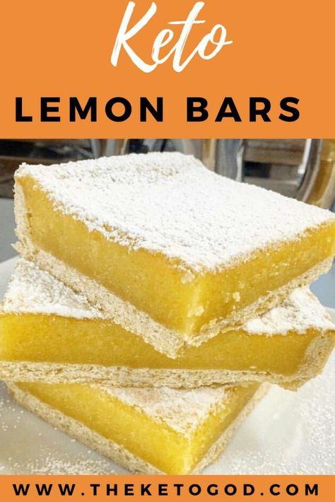 Keto Desserts, Keto Snacks, Carb Free Desserts, Dessert Recipes, Low Carb Dessert Easy, Healthy Lemon Desserts, Lemon Bars Healthy, Cake Recipes, Low Sugar Desserts