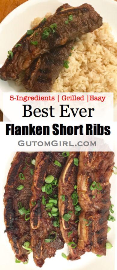 5 Ingredient Flanken Short Ribs Gutom Girl Recipes Recipe Beef Short Rib Recipes Rib Recipes Flanken Short Ribs Recipe
