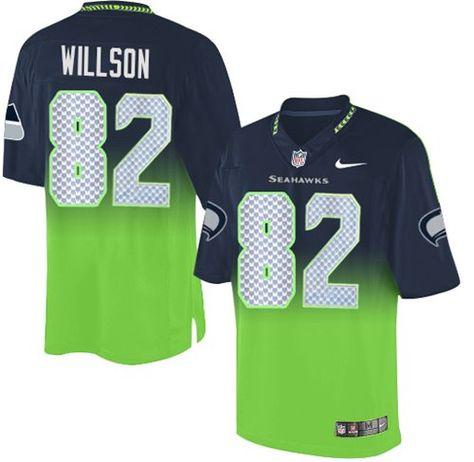 1580c1e49 Nike Seahawks  82 Luke Willson Steel Blue Green Men s Stitched NFL Elite  Fadeaway Fashion Jersey