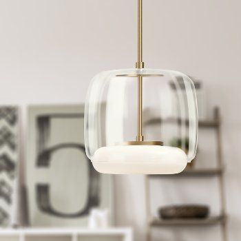 Shown In Clear Glass Shade With Vintage Brass Finish Interior Led Lights Pendant Lamp Lamp