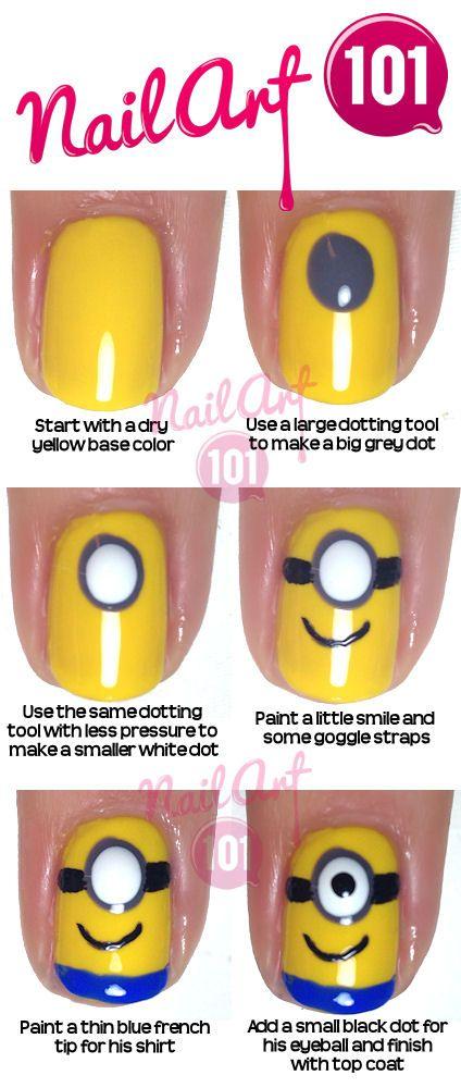 Minion nails tutorial posh nail art kawaii pinterest minion nails tutorial posh nail art kawaii pinterest minion nails tutorials and minion nail art prinsesfo Images