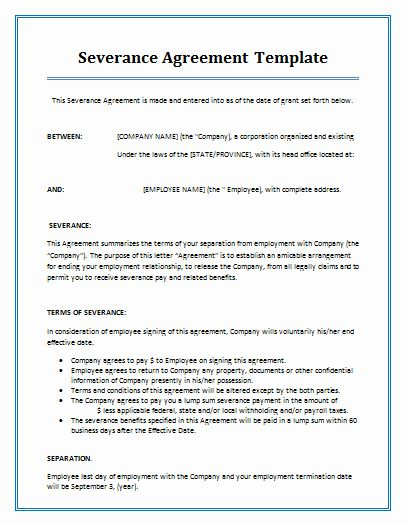 Marriage Contract Template Separation Agreement Template