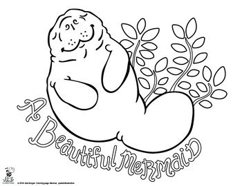 Manatee Coloring Page Free For The Month Of May Mermaid Coloring Pages Coloring Pages Cool Coloring Pages
