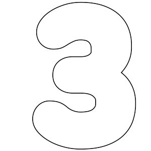 It's As Easy As 1-2-3 To Use Our Free Printable Numbers Digital Stamps: Number 3
