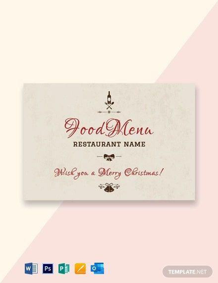 Christmas Restaurant Greeting Card Template Word Psd Apple Pages Publisher Outlook Greeting Card Template Christmas Place Cards Place Card Template