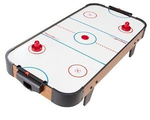 40 Tabletop Air Hockey Table Kid Wood Sports Home Family Game Set