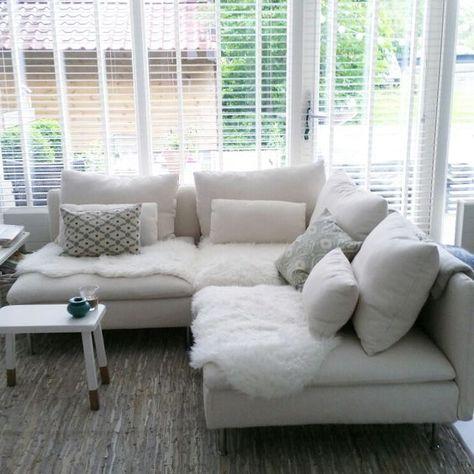 Soderhamn I used three elements So happy with this sofa - schwarz weiß wohnzimmer