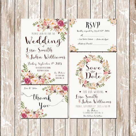 Hey, I found this really awesome Etsy listing at https://www.etsy.com/uk/listing/230835077/invitation-kit-wedding-invitation-pink