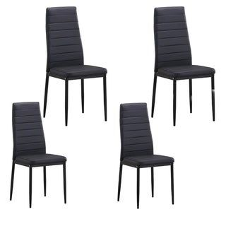 Harper Bright Designs High Back Pu Leather Dining Chairs Set Of