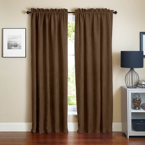 Blazing Needles Microsuede Blackout 84 Inch Curtain Panel Pair 84