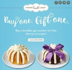 picture about Nothing Bundt Cakes Coupons Printable titled Nothing at all Bundt Cakes Coupon codes 2018 Printable Globe Of