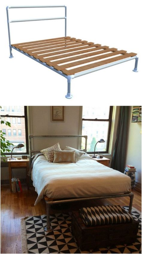 DIY Plumbing Pipe Bed Frame   Bed frames, Inspiration and Pipe bed