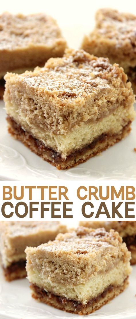 Crumbly, buttery coffee cake that's perfect for breakfast or dessert! :-)