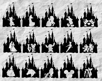 Disney Svg Files For Shirts Etsy Disney Castle Silhouette Disney Silhouettes Disney Silhouette