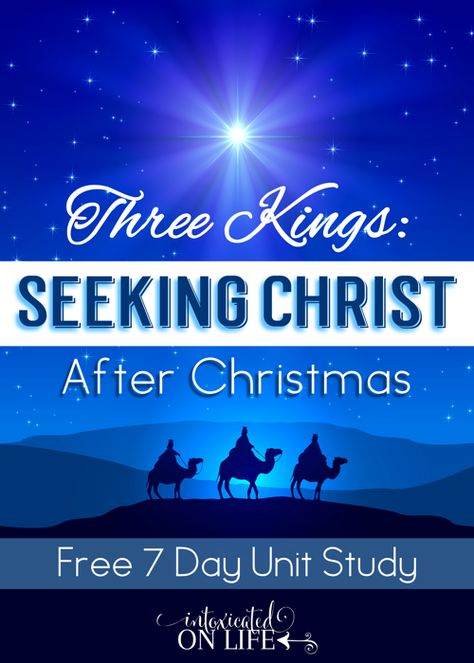 This is a fantastic 7 day lesson to help your kids focus on Christ AFTER Christmas! Completely FREE too. @ IntoxicatedOnLife.com