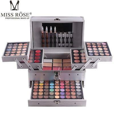Miss Rose Cosmetic Makeup Kit Eyeshadow Blush Concealer Lipstick Aluminum Case Ebay In 2020 Professional Makeup Kit Makeup Kit Eye Makeup Kits