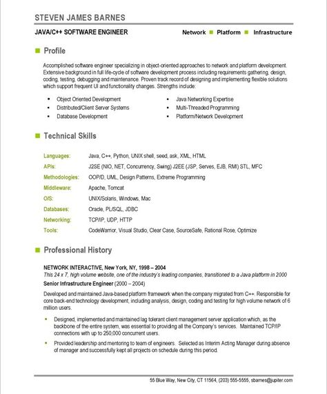 Software Developer Page1 Free Resume Samples Resume Software Resume Template Free