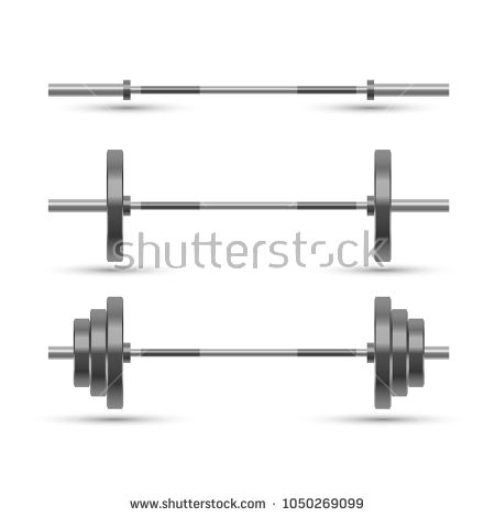 barbells isolated on white