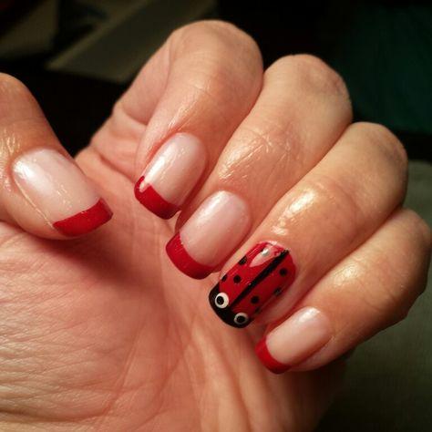 Ladybug Nail Art Nails Pinterest Ladybug Nail Art And Pedicures