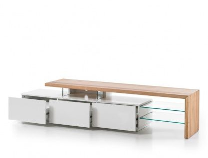 Lowboard Alessa I 204x40x44 Cm Weiss Eiche Tv Board Tv Mobel