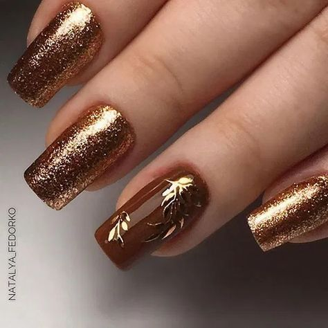 120+ elegant autumn nail designs have to try 31 ~ Modern House Design