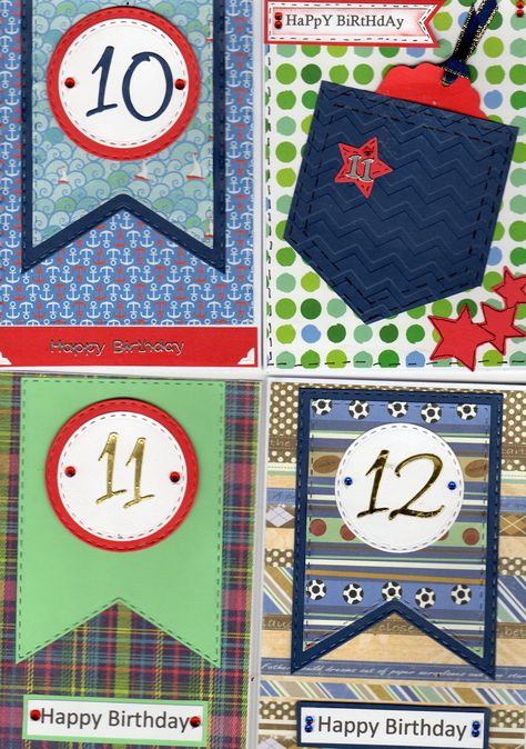 10 11 And 12 Year Old Boys Birthday Cards Using The Justrite Banners Rectangles