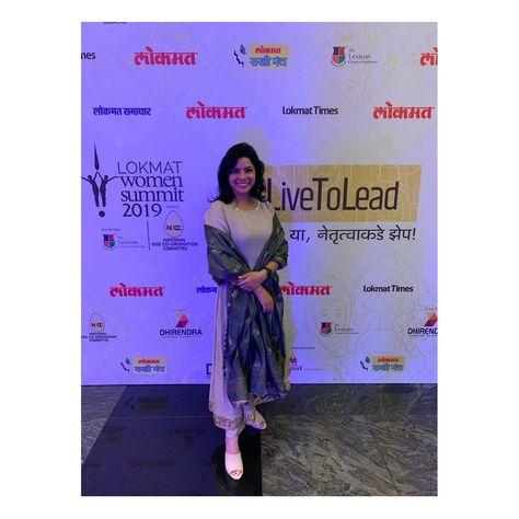 @rajshri_deshpande at the Lokmat Women Summit'19 looks regal in our Kajal set from the SS'19 Khush Umeedi Collection.  You make us proud! @rajshri_deshpande . . #priyankraajiv #rajshrideshpande #celebrity  #client #clientdiaries #umeedi #ss19 #celebritystylist #fashionstylist  #celebrities #filmcompanion #puneigers  #indiandesigner #bollywoodactresses #sacredgames #handcrafted #womenswear  #fashiondesigner #indianfashion #indianwear #follow4follow #lokmat #lokmatwomensummit #womeninbusiness #wom