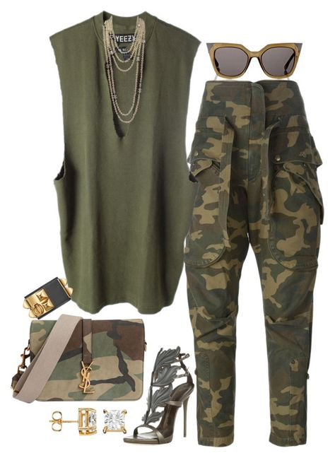 Christian Dior, Faith Connexion, adidas Originals, Giuseppe Zanotti, Yves Saint Laurent and Chanel Mode Outfits, Chic Outfits, Fall Outfits, Summer Outfits, Fashion Outfits, Womens Fashion, Fashion Trends, Camo Fashion, Army Outfits