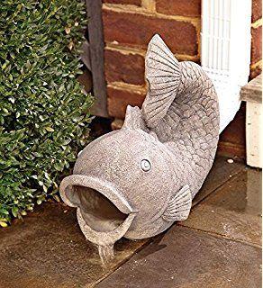Wind Weather Rg6204 Friendly Fish Garden Down Spout Fish Garden Decorative Downspouts Garden Statues