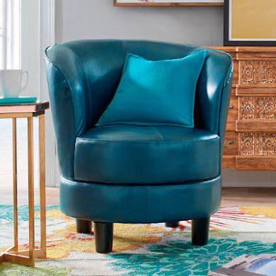 Remarkable Rebecca Swivel Chair Textured Caspian Blue Grandin Road Evergreenethics Interior Chair Design Evergreenethicsorg