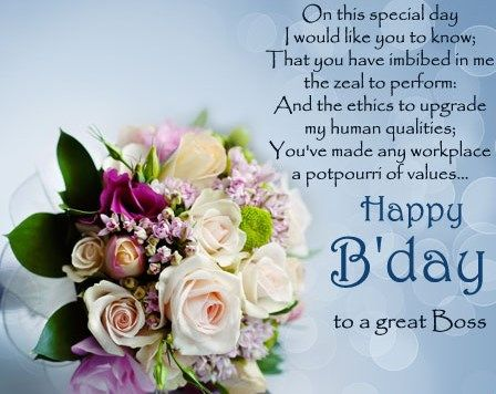 30 Best Boss Birthday Wishes Quotes With Images Birthday Card