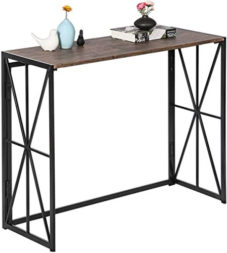 The Folding Console Sofa Table No Assembly Tall Wall Table
