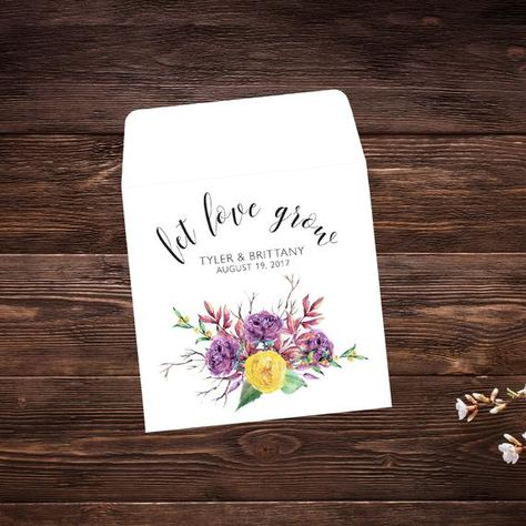 Seed Packet Favors, 25 Let Love Grow Favors, #seedpackets #seedfavors #weddingfavors #weddingseedfavor #weddingseedpackets #seedpacket #weddingfavor #seedfavor #seedpacketenvelope #seedpacketfavor #seedpacketfavors #bridalshowerfavor #seedweddingfavor