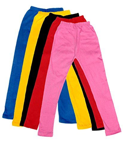 Indistar Kids Super Soft Cotton Leggings Combo 5