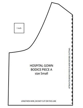 Hospital Gown Pattern Pieces Pdf Google Drive Hospital Gown