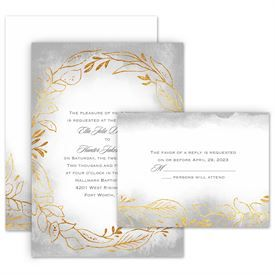 Golden Ring Invitation With Free