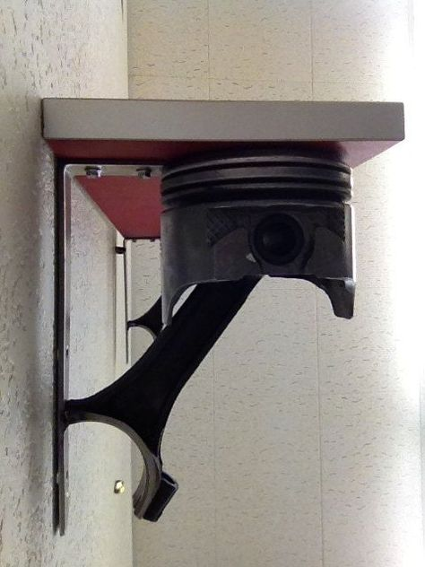Piston Shelf by ScrapIronDesigns on Etsy (Cool Furniture Man Caves)