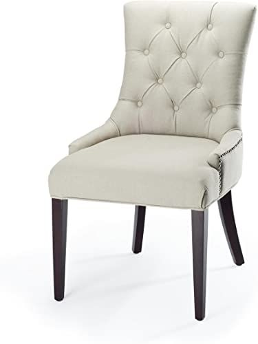 Shop For Safavieh Mercer Collection Erica Button Tufted Side Chair Putty Grey Online Gotopratedseller In 2020 Tufted Side Chair Side Chairs Dining Table Black