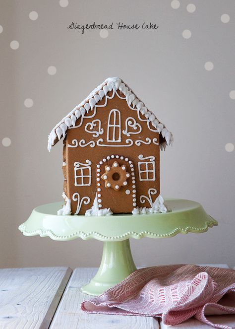Gingerbread House Cake - Style Sweet CA