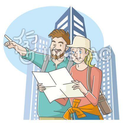 外国人観光客 イラスト 観光 イラストアート