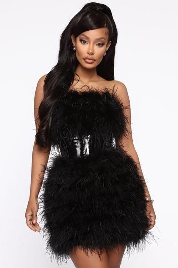 Featherlicious Mini Dress Black Mini Black Dress Mini Dress Black Sparkle Dress