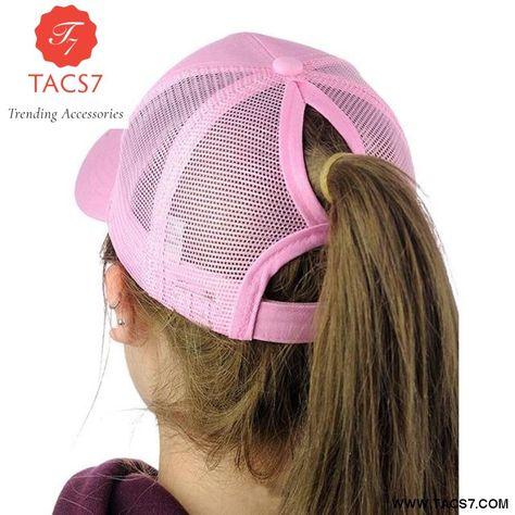 8aee7577281 Glitter Ponytail Baseball Snapback Cap Dad Hats for Women Hip Hop Caps  Messy Bun Cotton Sports Mesh Trucker Hat