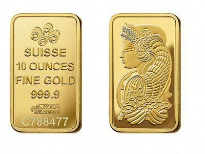 Pamp Suisse Gold Bullion Ten Ounce 10 Oz Bar Goldcoins