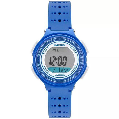 3304da4c3f1 Relogio Feminino Digital Azul com Branco Mormaii MO0974 8A ...