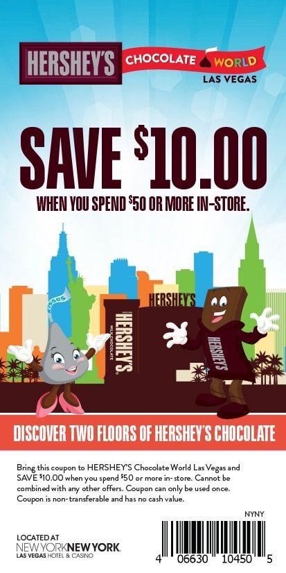 Visit The Store And Save Hershey S Chocolate World Las Vegas Las Vegas Trip Planning Vegas Trip Planning Las Vegas