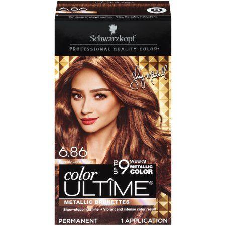 Schwarzkopf Ultime Metallics Permanent Hair Color Cream 6 86 Sparkly Light Brown Walmart Com In 2021 Hair Color Cream Permanent Hair Color Hair Color Light Brown